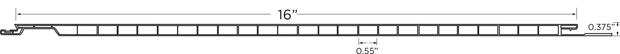 "EZ-Liner PVC Panel 16"""