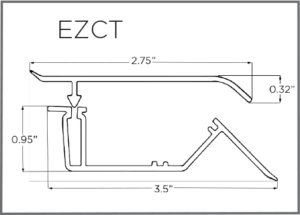 EZ-Liner PVC 2 pc Crown Trim