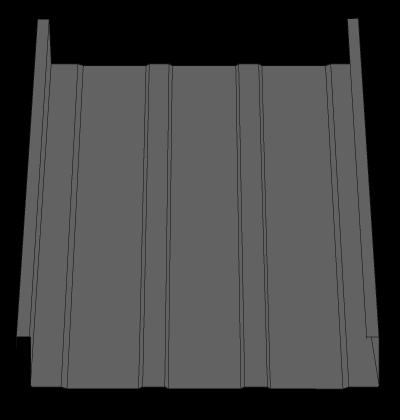 Standing Seam SS1512B Metal Roofing Panel
